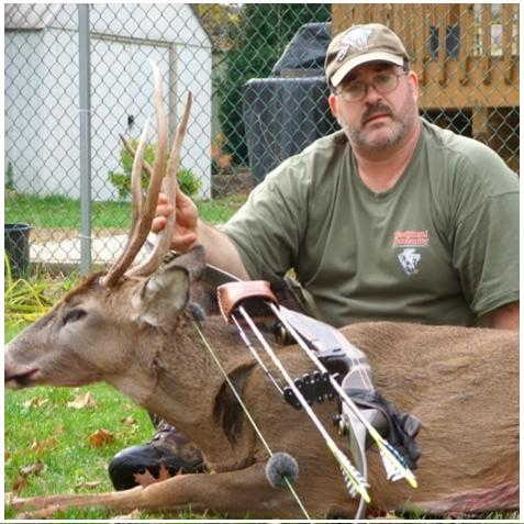 Pete lemasson harversted this unique 4 point whitetail buck with a